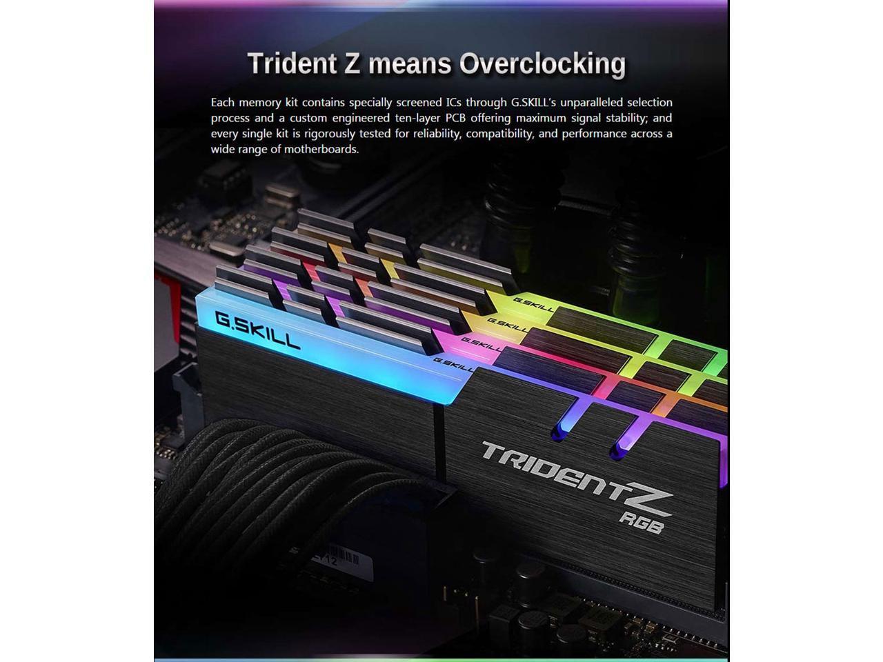 G SKILL TridentZ RGB 8GB (1 x 8GB) DDR4 3200MHz Desktop RAM -  F4-3200C16S-8GTZR (2 Years Warranty)