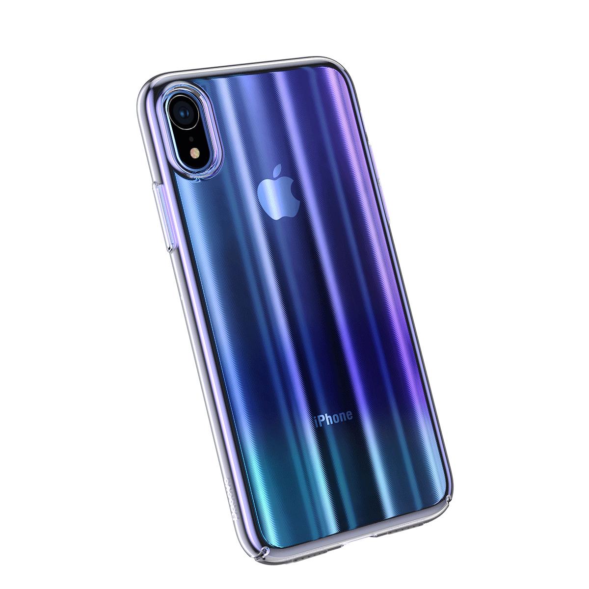 Baseus WIAPIPH65-JG03 Gradient Aurora Hard Plastic Case Apple iPhone X -  Blue