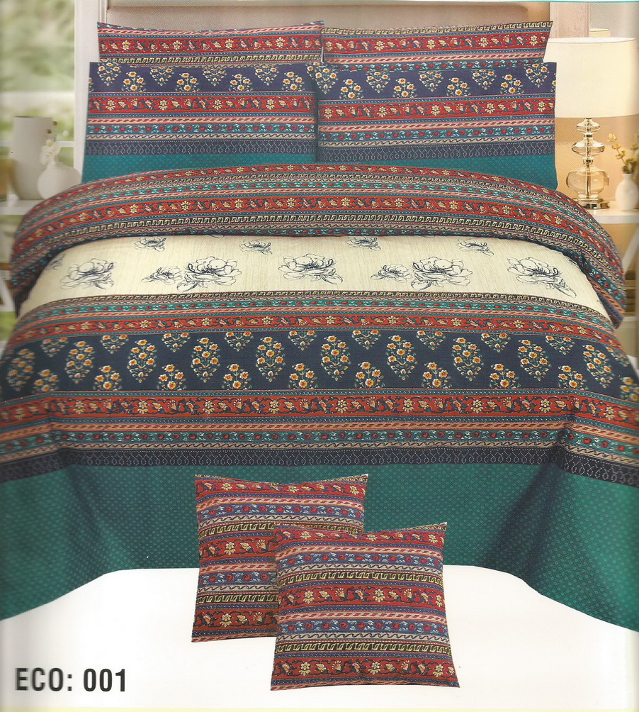 Printed bed sheets with 2 pillow covers king size bsheet1 for Dreamfinity king size pillow
