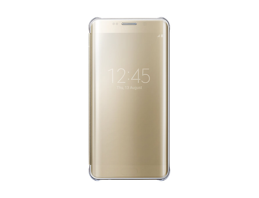 release date b789a 2c41c Samsung Galaxy S6 edge+ Clear View Cover Gold