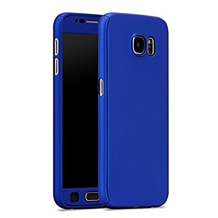 reputable site 45dd7 131a4 IPAKY Full Protection 360 Case For Samsung Galaxy S7 Edge Blue