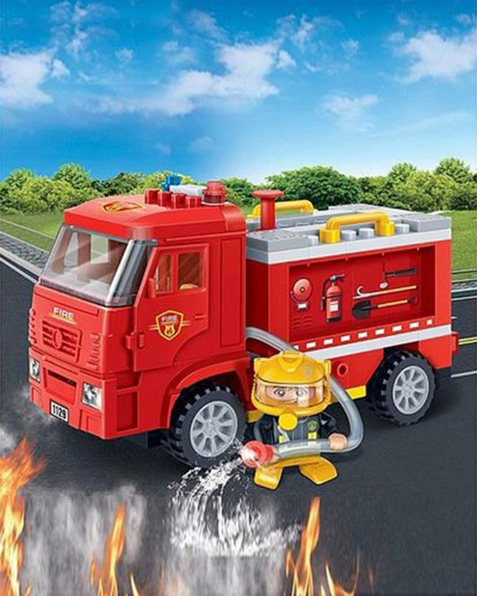 BanBao Fire Turck Block Toy - Multicolour