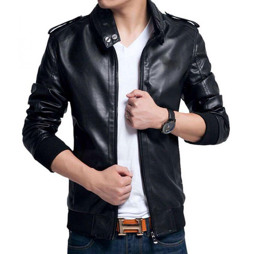 cbac9fe2f Highstreet Leather Jacket B666Black2 Price In Pakistan
