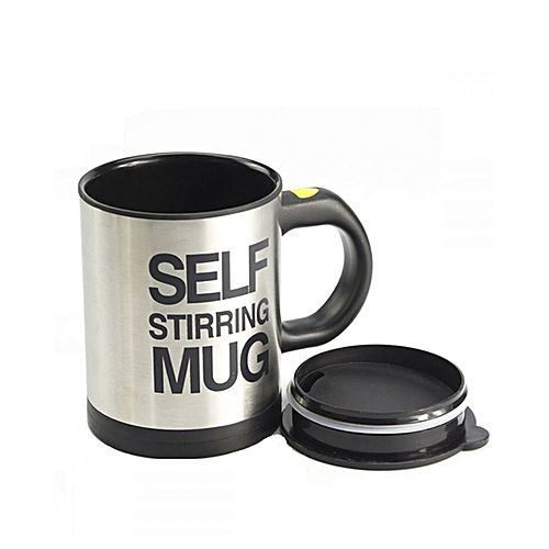 c4101adb53a Self Stirring Mug (Black & Silver)