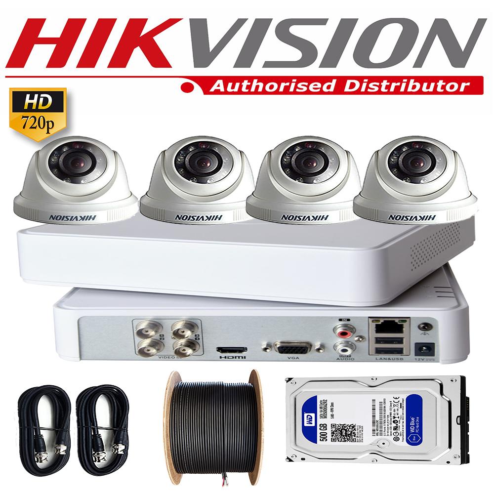 Hikvision Complete Full CCTV Package Dvr 4 Channel 1MP 4