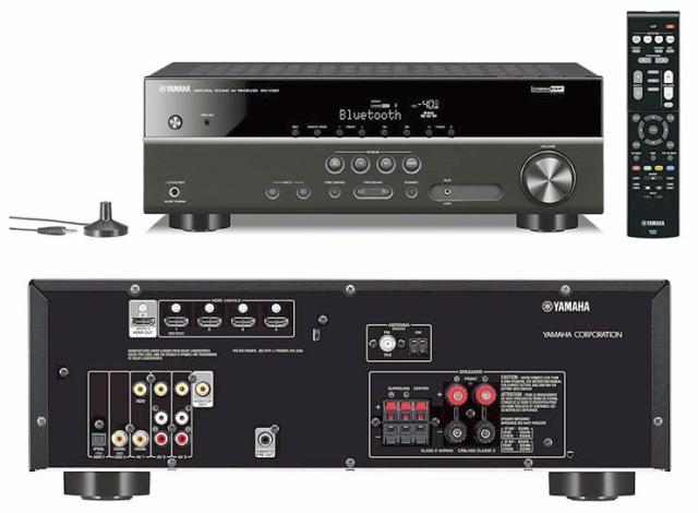 Yamaha rx v381 4k bluetooth 5 1channel av receiver for Yamaha rx v450 av receiver price