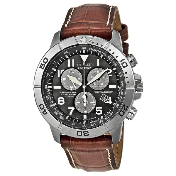 02a17a9291c HomeFashionMenWatchesCitizen Men s BL5250-02L Titanium Eco-Drive Watch with Leather  Band. image