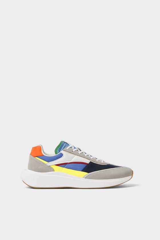 Zara Contrasting Sneakers Multicolor