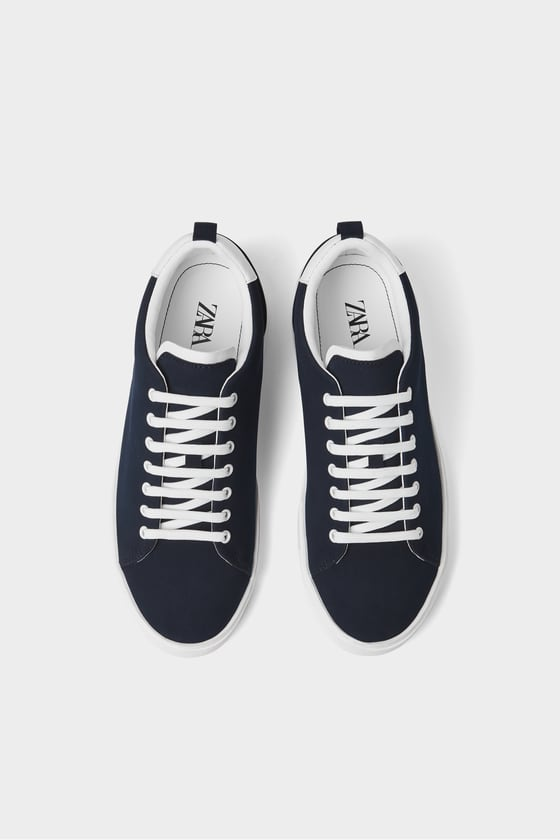 Zara Blue Sneakers Navy Blue Price in