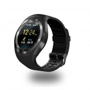 Y1 Round Dial Smart Watch Black Price in Pakistan