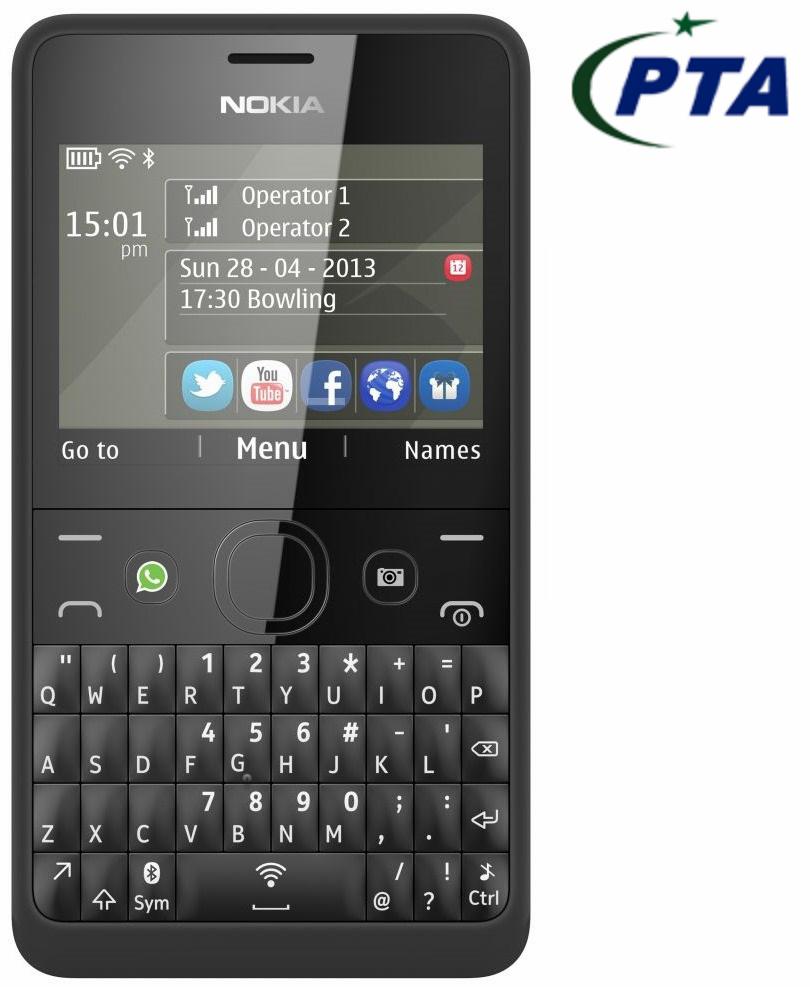 Nokia Asha 210 Dual Sim (Black) Price in Pakistan - Homeshopping