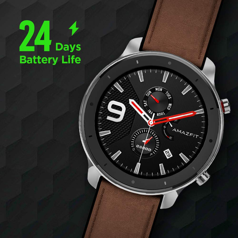 Amazfit GTR Smartwatch 47mm - Stainless Steel - Homeshopping