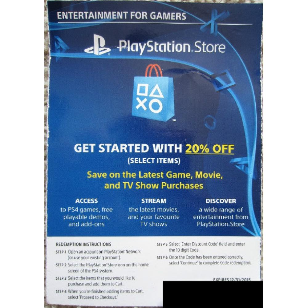 Coupon code playstation network