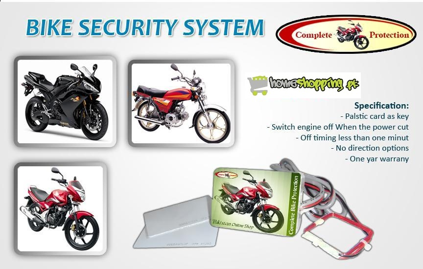 Buy Bike Security System 1 In Pakistan Online Homshopping Pakistan