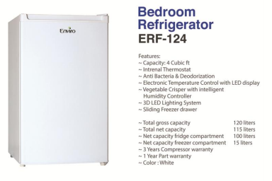 Enviro Erf124 Bedroom Size Refrigerator Price In Pakistan