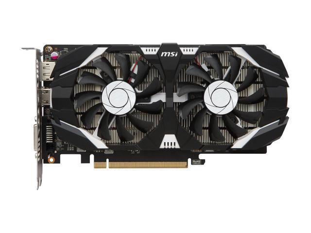 MSI GeForce GTX 1050 2GT OC 2GB 128-Bit GDDR5 PCI Express 3 0 x16 HDCP  Ready ATX Graphics Card (1 Year Local Warranty)
