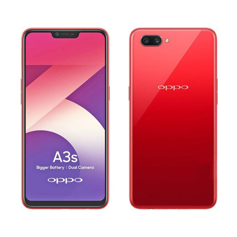 Oppo A3s Dual Sim (4G, 2GB RAM, 16GB ROM, Red) Official Warranty