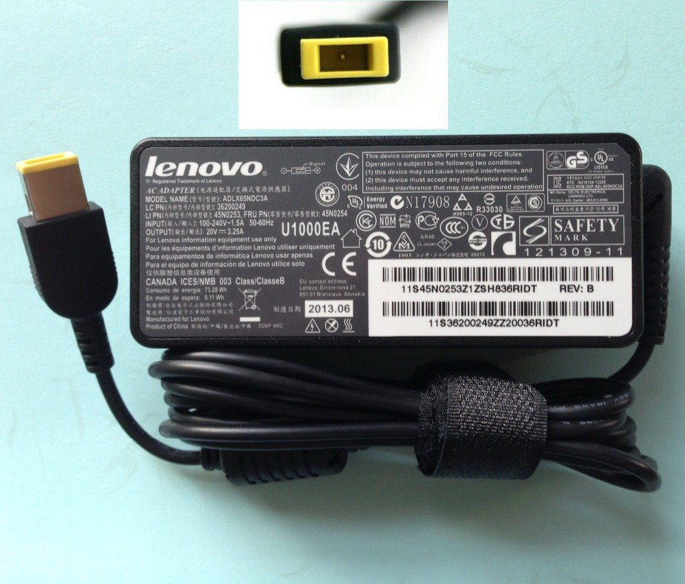 Lenovo Square Pin Charger 20V 3 25A 65W Price In Pakistan