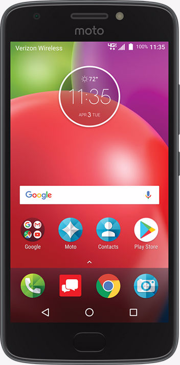 Motorola Moto E4 XT1767 Verizon (4G, 2GB RAM, 16GB ROM, Black, With Finger  Print)
