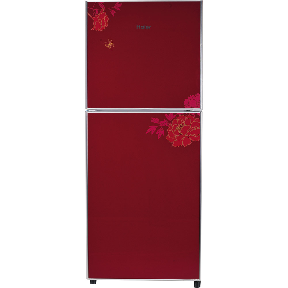 Haier Hrf342 Red Royal Shine Series Glass Door Refrigerat