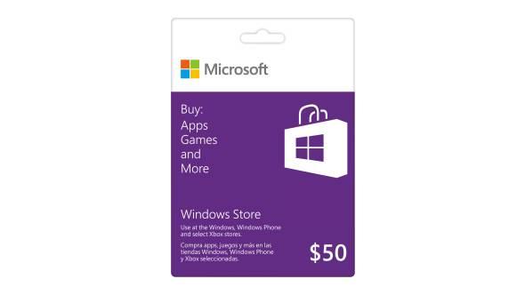 microsoft app store gift card