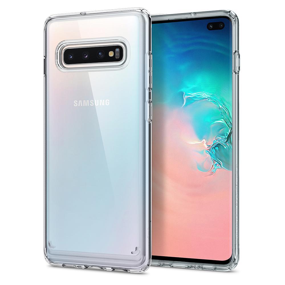 promo code 2c736 3f13d Spigen Galaxy S10+ Case Ultra Hybrid Crystal Clear