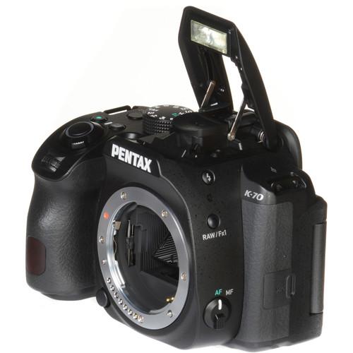 pentax k 70 dslr camera body only black. Black Bedroom Furniture Sets. Home Design Ideas