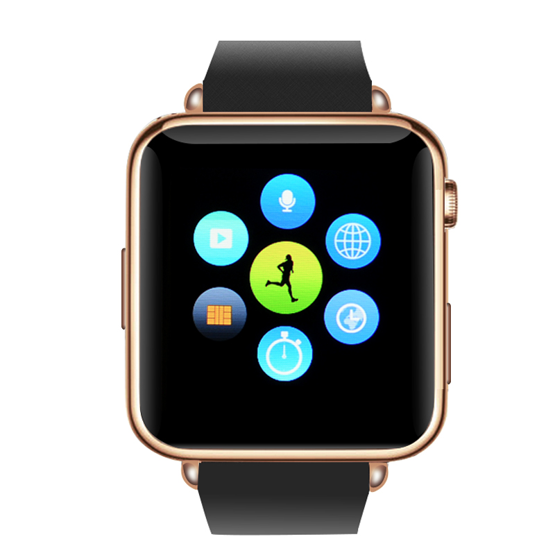 Q7 Smart Watch (Gold) with Black Strap