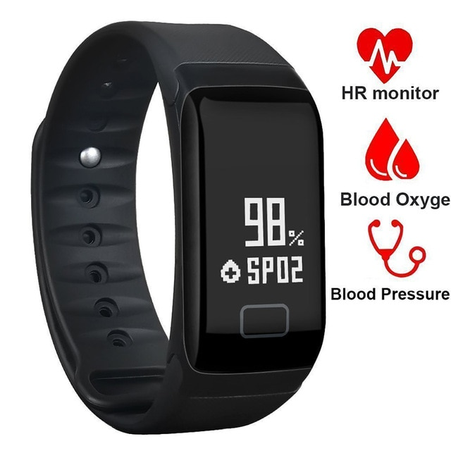 a2a3f84d3 ... Phone & Tablets Smart WatchesF1 Blood Pressure Monitor Fitness Bracelet  Activity Tracker Smart Band Smartband Pedometer Wristband Smart Watch. image