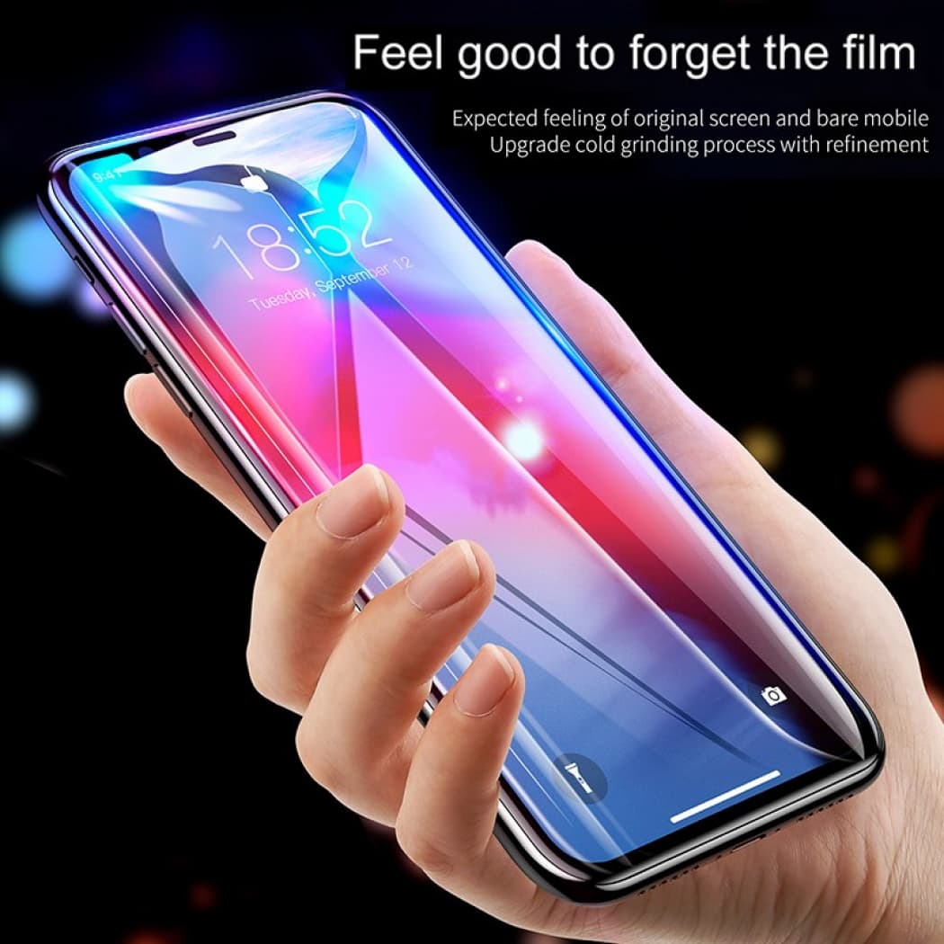 newest collection cbf1c 4c2d2 Baseus Curved-Screen Tempered Glass Screen Protector With Crack-Resistant  Edges For iP XR 6.1inch 0.23mm Black SGAPIPH61-PE01