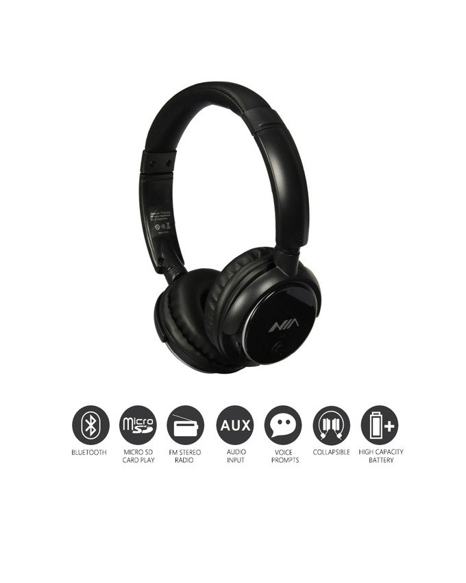 nia q1 wireless bluetooth headphone with app control price in pak. Black Bedroom Furniture Sets. Home Design Ideas