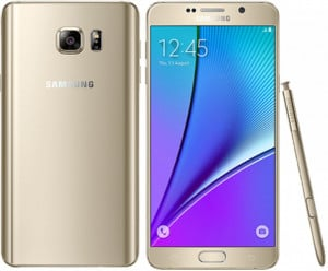Samsung Galaxy Note 5 – SM-N920 – 32GB ROM – 4GB RAM- 16MP Camera – Gold Platinum
