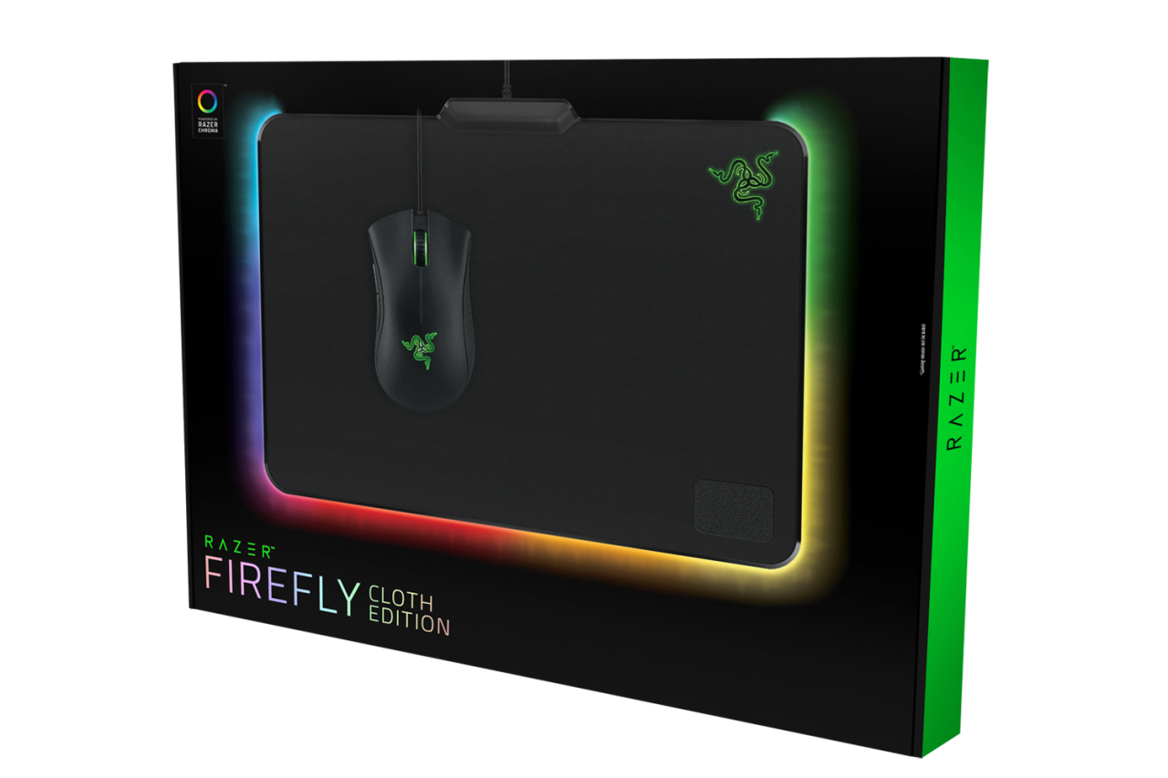 Razer Firefly Chroma Lighting Cloth Gaming Mouse Pad