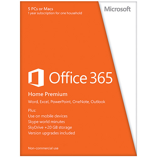 microsoft office 365 home premium 32 64bit with one year. Black Bedroom Furniture Sets. Home Design Ideas