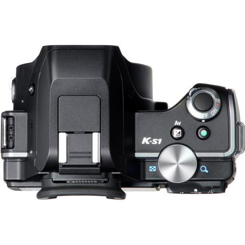 pentax k s1 dslr camera with 18 55mm lens black. Black Bedroom Furniture Sets. Home Design Ideas