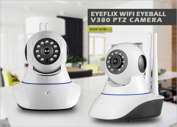 Eyeflix Wifi Eyeball V380 PTZ Camera Moto E4