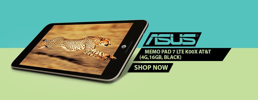 ASUS MeMO Pad 7 LTE K00X AT&T (4G,16GB, Black)
