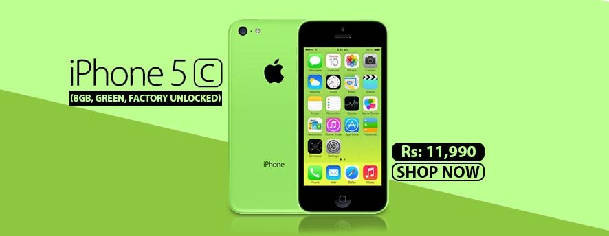 Apple iPhone 5C (8GB, Green, Factory Unlocked)