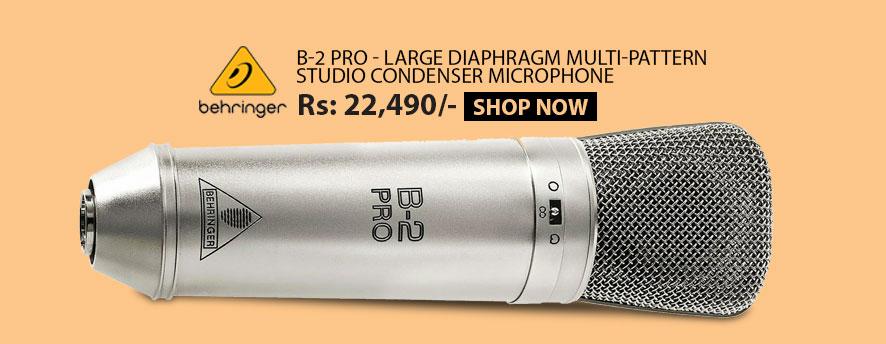 Behringer B-2 Pro - Large Diaphragm Multi-Pattern Studio Condenser Microphone