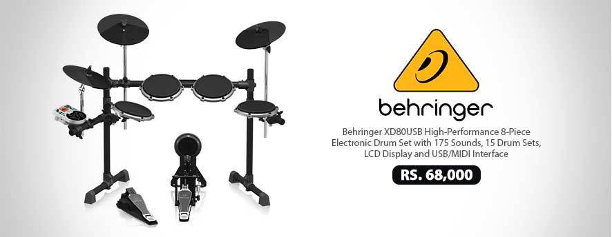 Behringer XD80USB High-Performance 8-Piece Electronic Drum