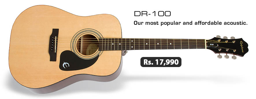 Epiphone DR 100 Acoustic Guitar Natural