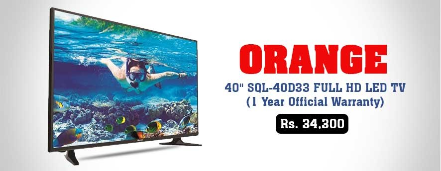 Orange 40 SQL 40D33 FULL HD LED TV 1 Year Official Warranty