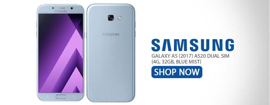 Samsung Galaxy A5 (2017) A520 Dual Sim (4G, 32GB, Blue Mist)