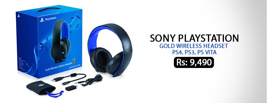 Sony PlayStation Gold Wireless Headset PS4 PS3 PS Vita