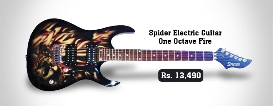 Spider Electric Guitar One Octave Fire