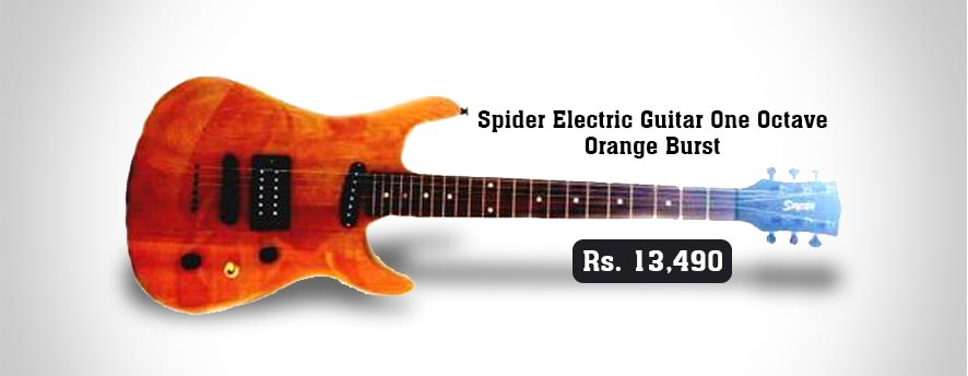 Spider Electric Guitar One Octave Orange Burst