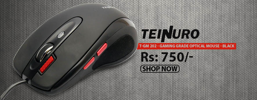 Teinuro T-GM 202 - Gaming Grade Optical Mouse - Black
